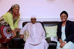 The photos that prove Buhari is not on life support, with Aisha,  and governors