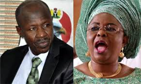 Ex-First Lady speaks out, petitions Buhari to call EFCC boss to order