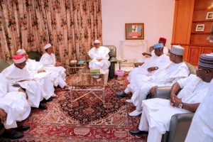 Why we came to see Buhari, 7 APC Governors