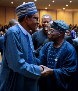 Buhari, Obasanjo meet in Addis Ababa