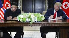 Trump, Kim sign agreement after historic summit but few specifics