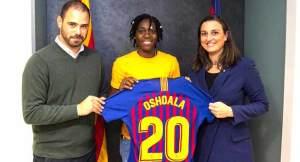 Ace female footballer, Asisat, goes to Barca on loan
