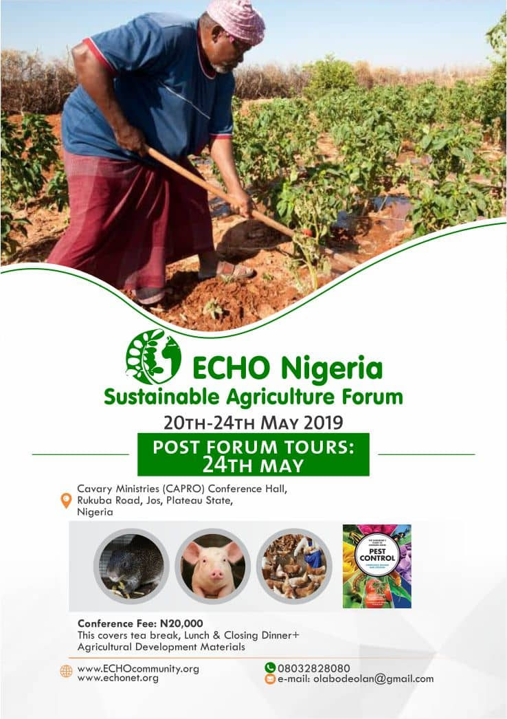 2019 ECHO Agric forum holds in Jos