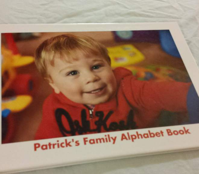 Children's Christmas Gift Idea: Personalized ABC Alphabet Book