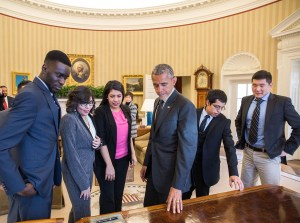 Obama meets with DREAMers.
