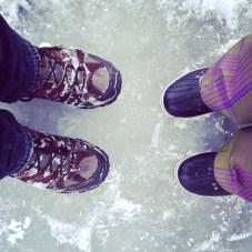 standing on a lake!