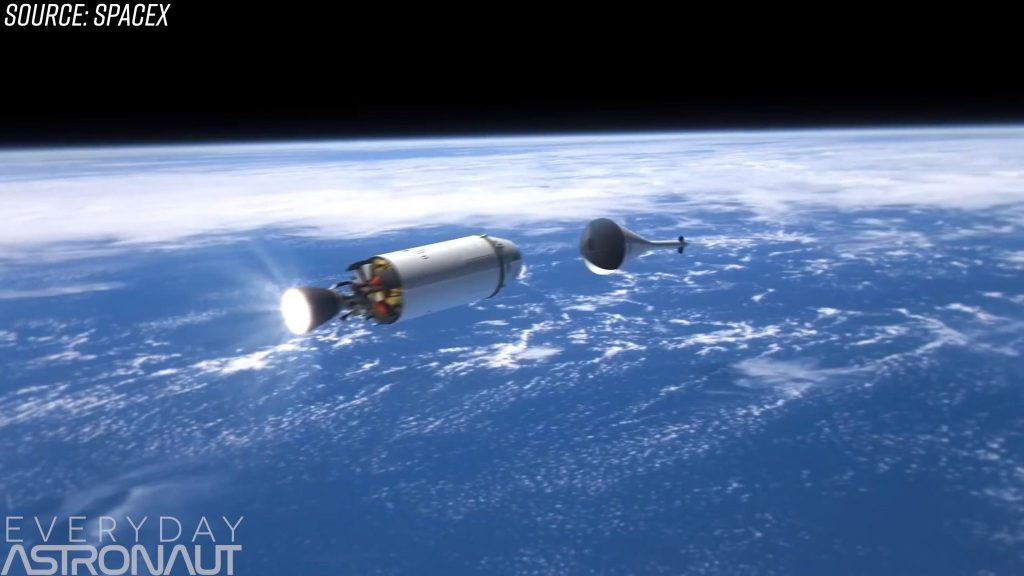 SpaceX old abort motor tower escape system