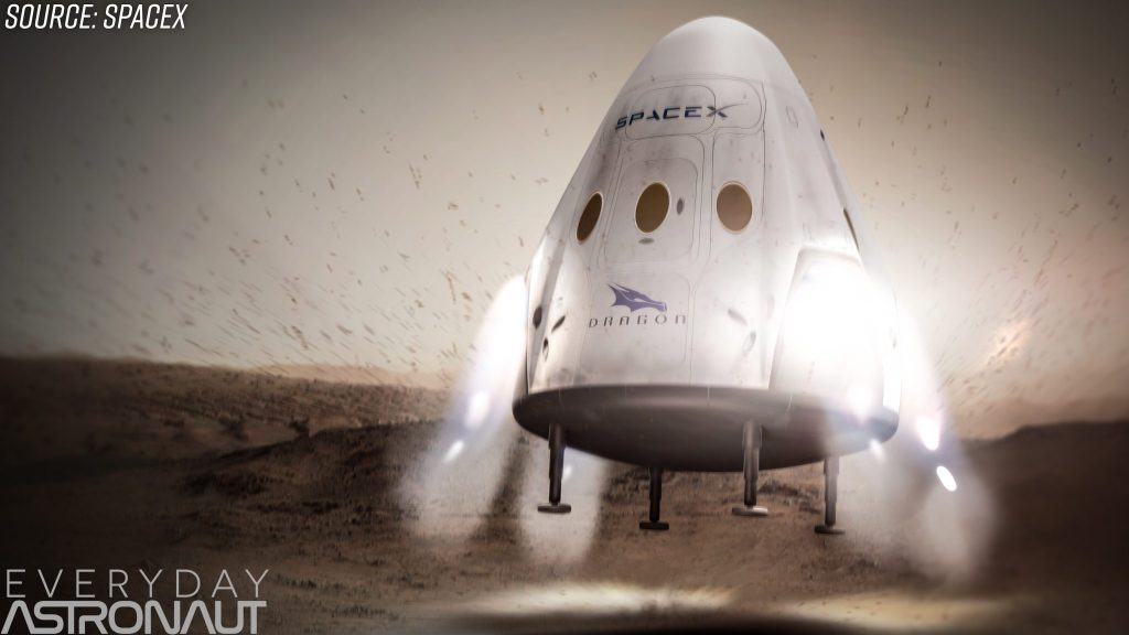 SpaceX Red Dragon Mars mission