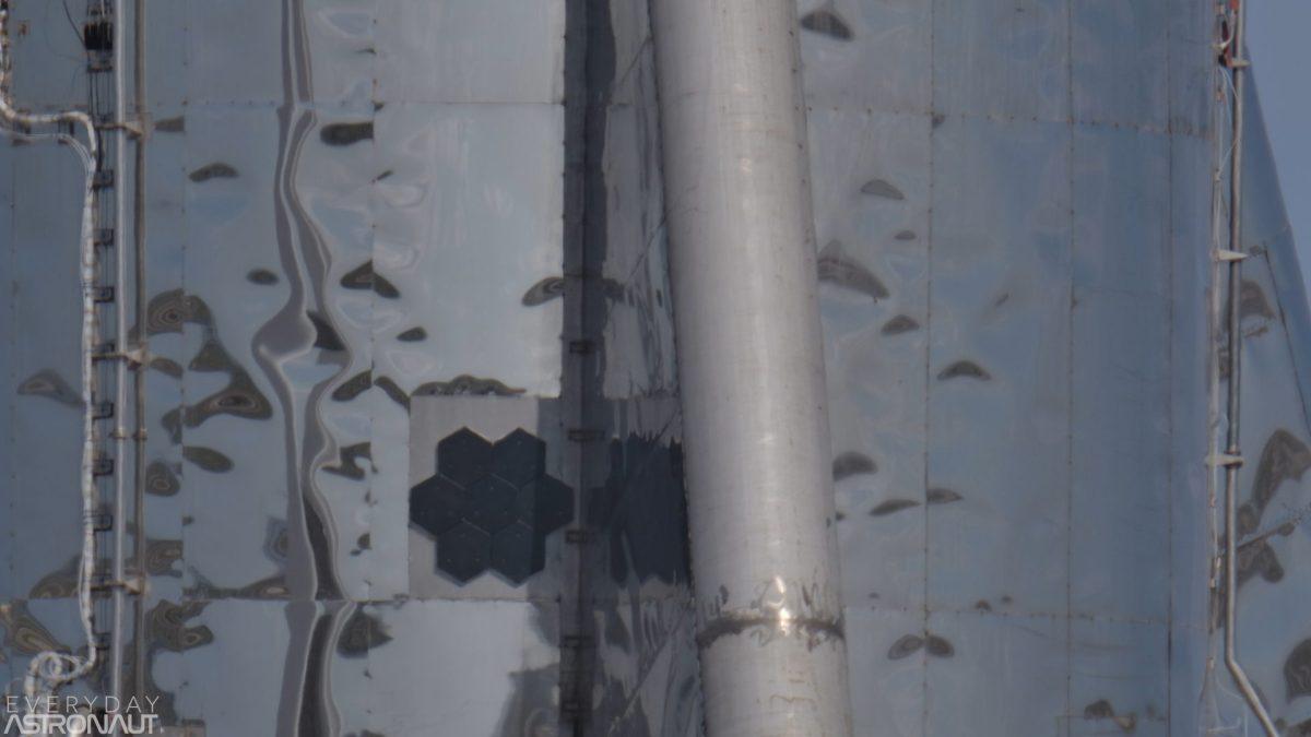 Starship starhopper heat shields