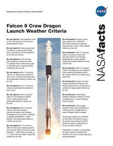 Falcon 9 launching a Crew Dragon