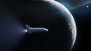 Starship around the moon