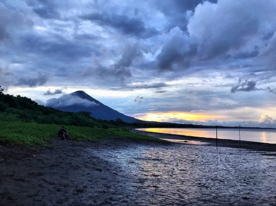 Sunset over Volcan Concepción, Ometepe, Nicaragua
