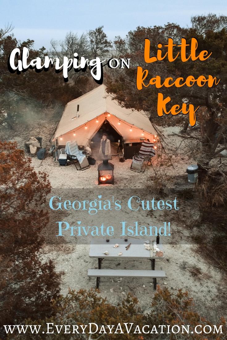 Glamping On Little Raccoon Key: Georgia's Cutest Private Island