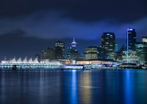 Vancouver Skyline, Vancouver Night Photography, Canada Photography