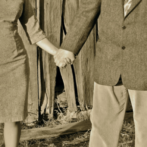 Frank and Lynaea holding hands
