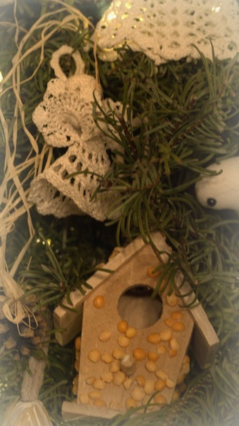 homemade birdhouse ornament---still, still, still