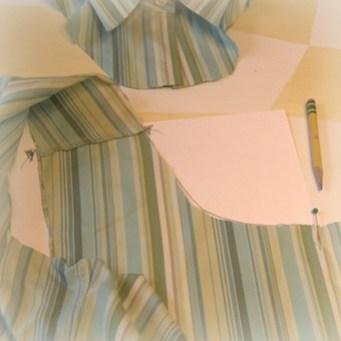 making collar pattern: front