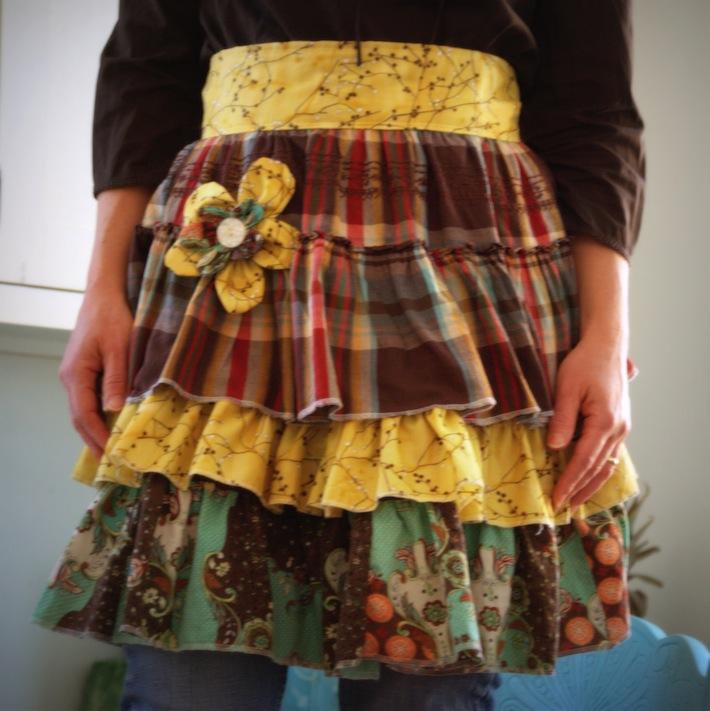 embellished homemade apron