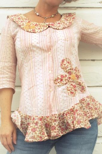 refashioned blouse: peter pan peplum