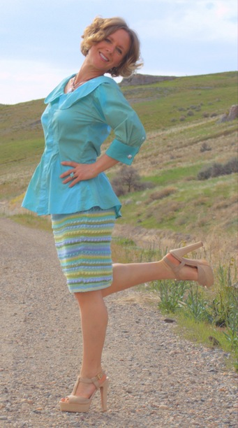 spring refashion: pencil stripes
