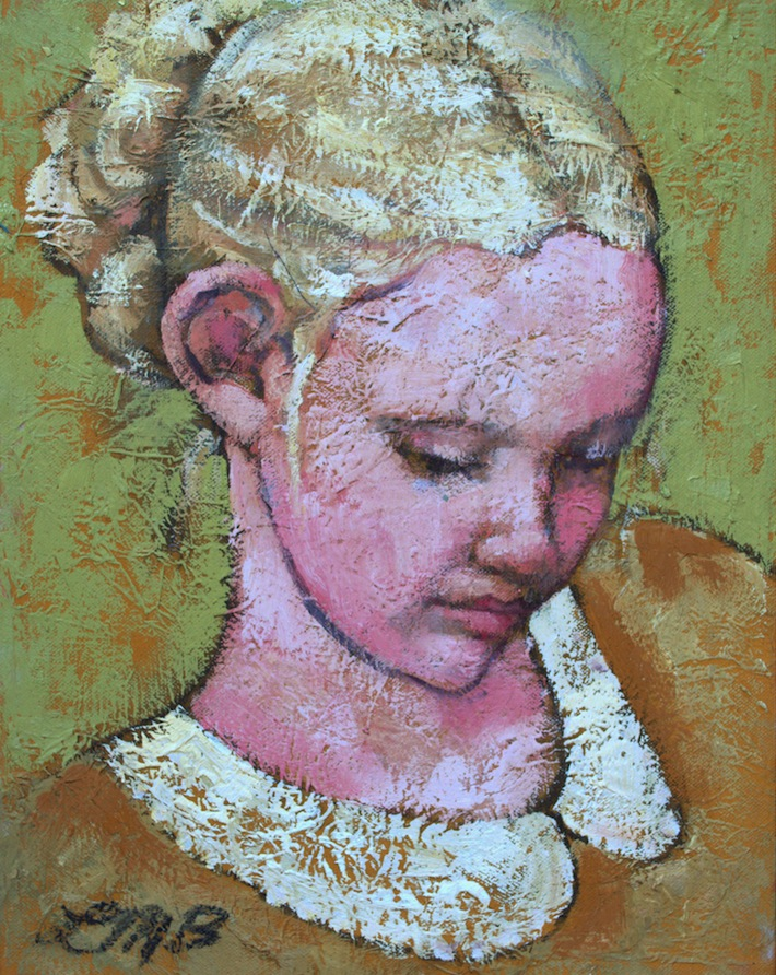"""Little Muse"" oil on canvas by Lynaea Brand"