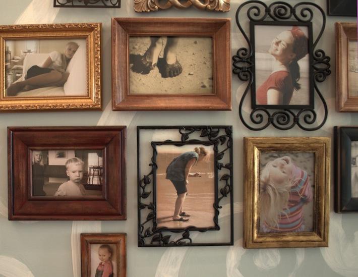 hallway of photos