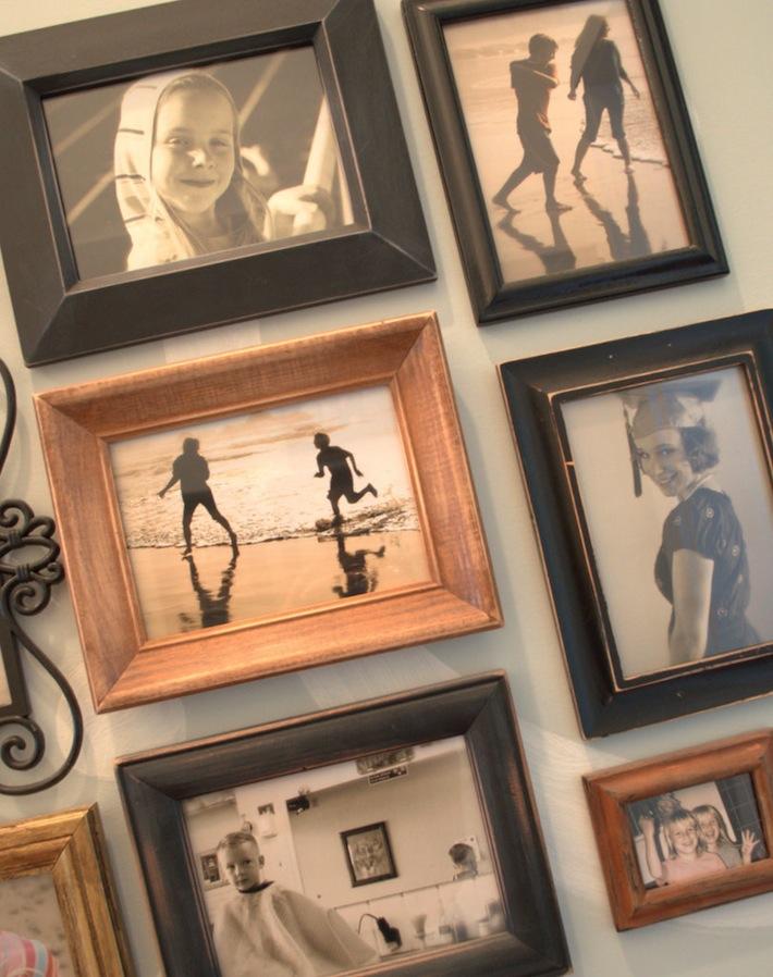 hall wall, family photo gallery