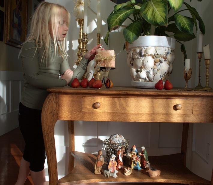 Nativity scene, foyer