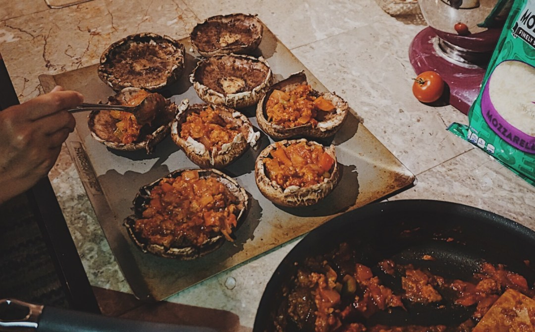 Sausage Stuffed Portobello Mushrooms