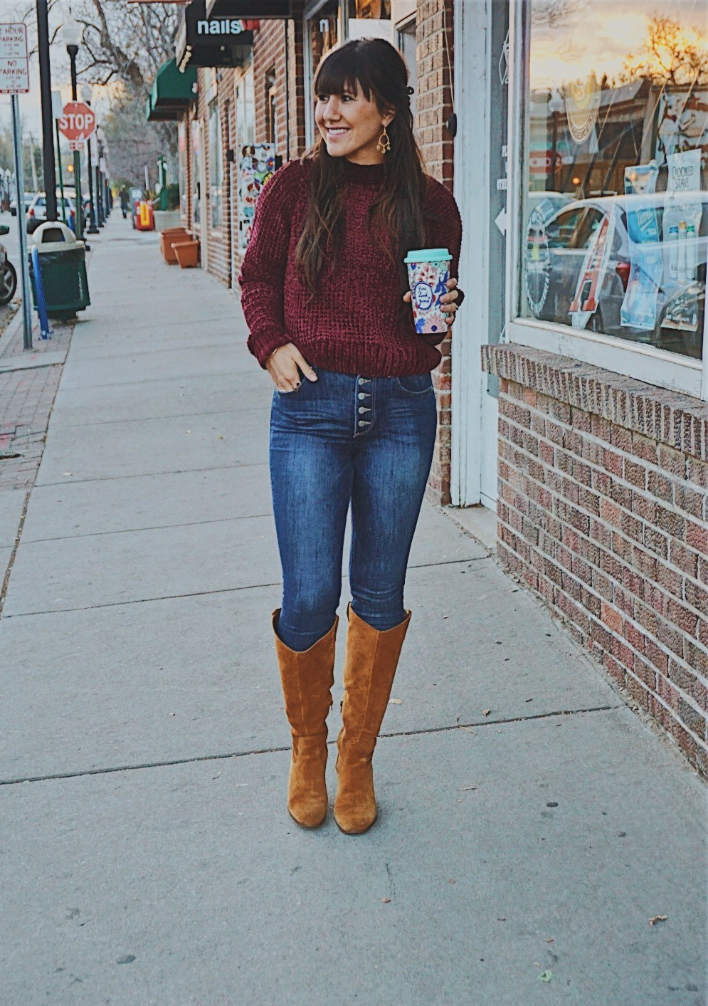 Cute Chenille Sweaters / Thanksgiving Day Look / Chenille Winter Sweater / Soft Chenille Sweaters