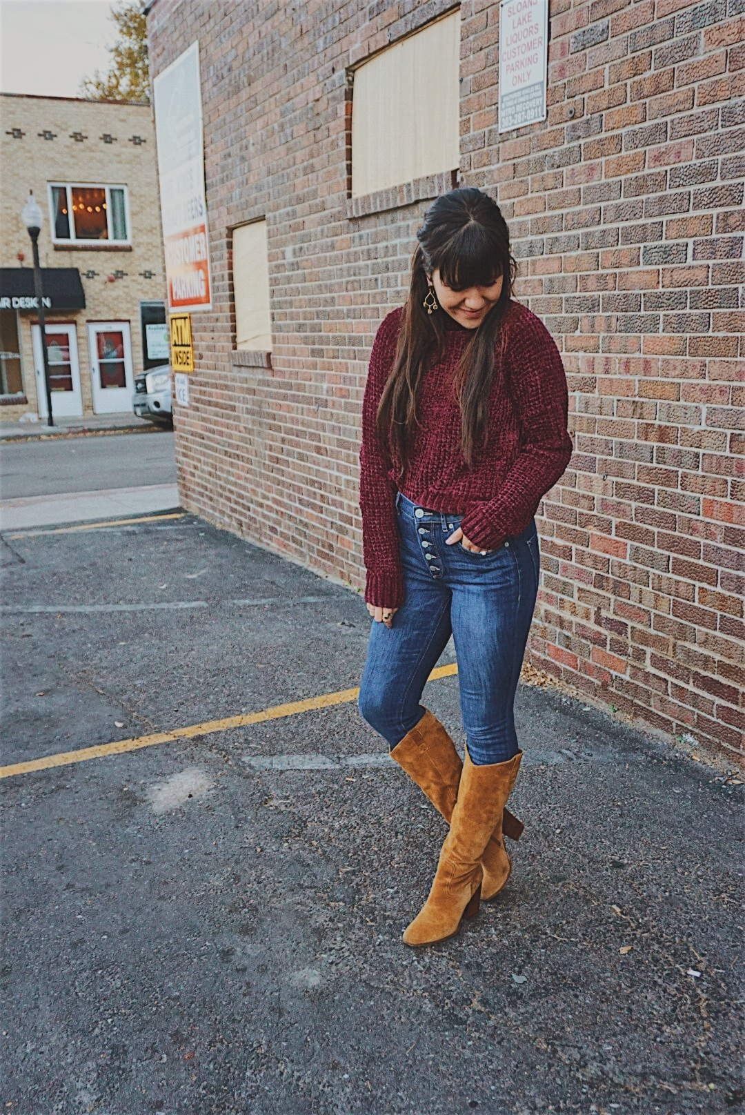 Cute Chenille Sweaters / Thanksgiving Day Look / Chenille Winter Sweater / Soft Chenille Sweater