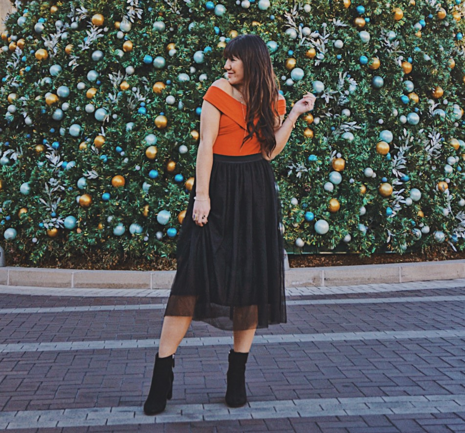 Holiday Tulle Skirt | New Years Eve Look | Black Tulle Skirt | New Years Eve Style
