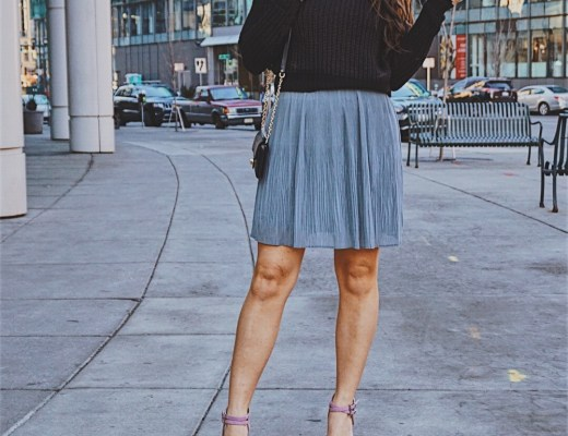Best Skirts to get you from Winter to Spring | Faux Leather Skirt | Chiffon Pleated Skirt | Winer Skirt Style | Spring Skirt Style