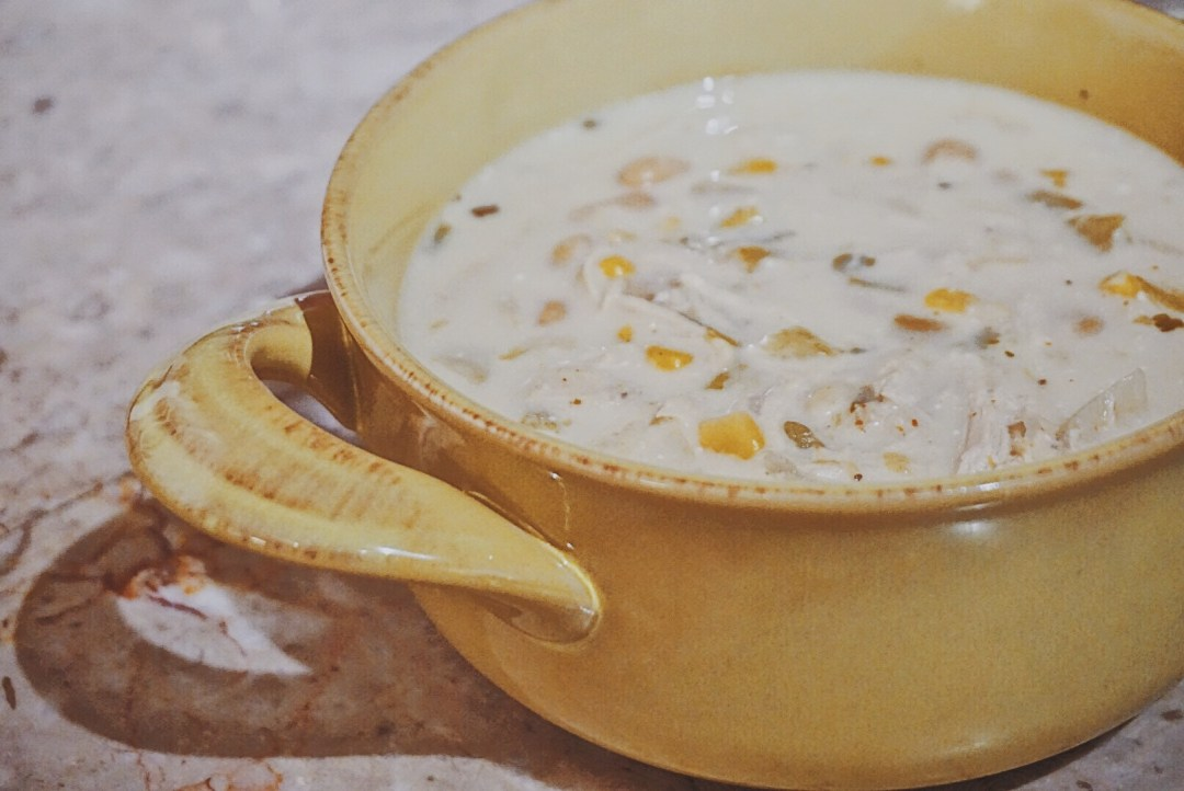 Creamy Crockpot White Chicken Chili   Crockpot Soup Recipe   Crockpot Chili Recipe
