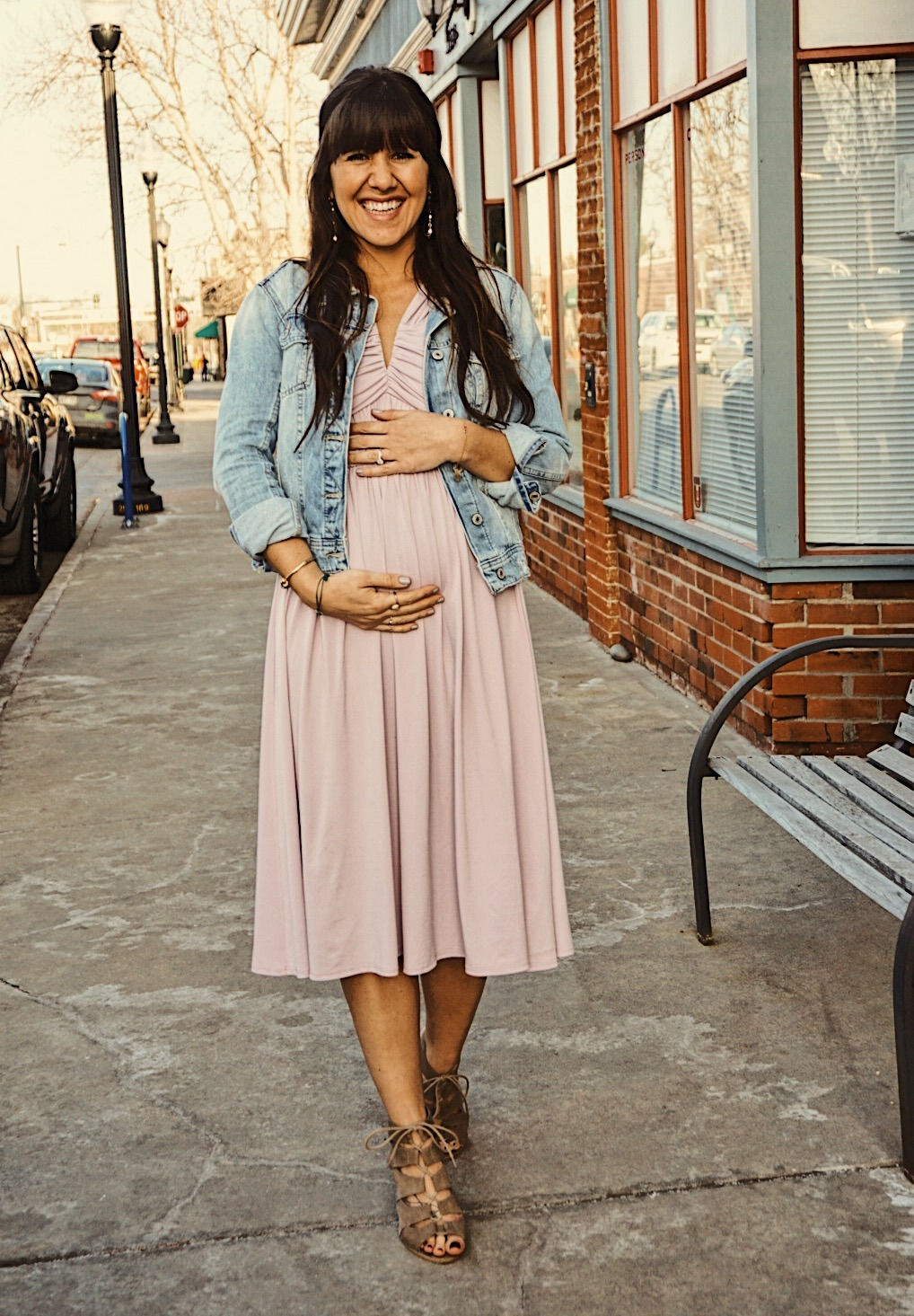 Learning How to Style the Bump | Spring Maternity Style | Pregnancy Style for Spring | Lilac Spring Dress