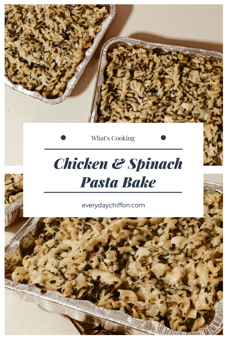 Chicken & Spinach Pasta Bake Pin
