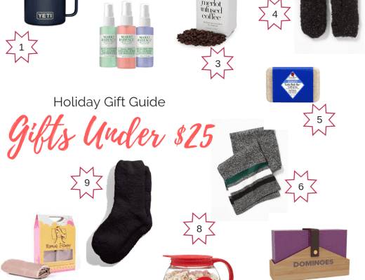 Holiday Gift Guide: Gifts Under $25 | Everyday Chiffon