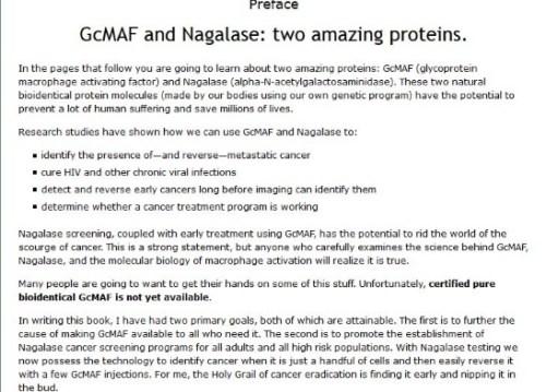 Preface-GCMAF & Nagalase book