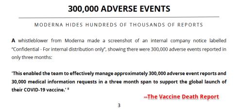 David John Sorensen & Dr. Vladimir Zelenko, MD - Evidence of Millions of Deaths and Serious Adverse Events  Moderna-1a