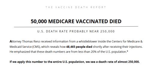 David John Sorensen & Dr. Vladimir Zelenko, MD - Evidence of Millions of Deaths and Serious Adverse Events  VD-1