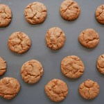 Ginger biscuits after cooking
