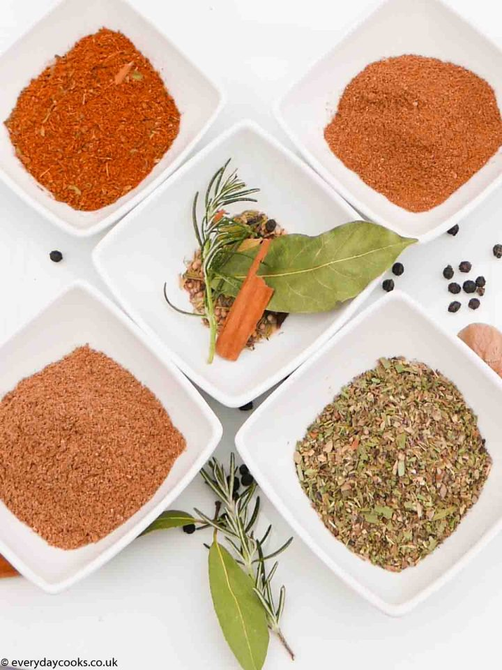 Top 5 Herb and Spice Mixes: Mixed Herbs, Mixed Spice, Garam Masala, Gyros, Bouquet Garni.