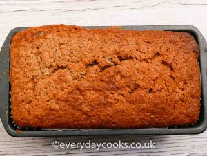 A Banana Loaf in the tin