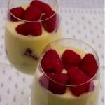 Individual servings of Easy Raspberry Lemon Mousse in glasses