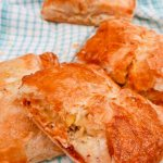 Cod and Chorizo Parcels on a green tea towel
