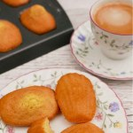 French Madeleines with a cup of coffee