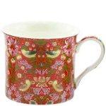 William Morris design china mugs of various colours