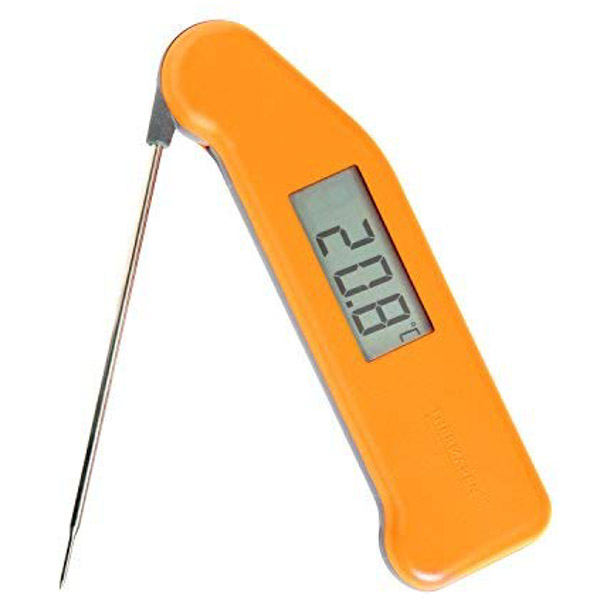 Yellow digital food thermometer