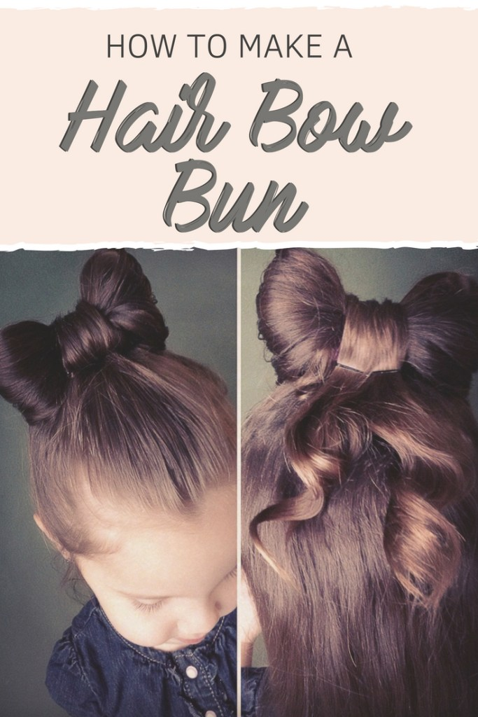 How To Make A Hair Bow Bun For Little Girls