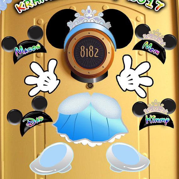 Disney Cruise family decorated door